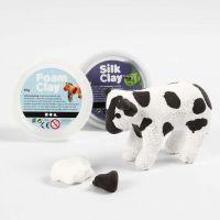 Ko av papier-maché med Foam Clay och Silk Clay