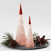 Julgran av strut och LED-värmeljus