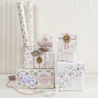 Presentinslagning med material i romantisk design från Vivi Gade