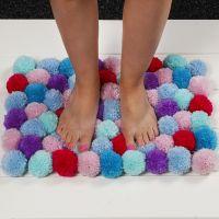 Mjuk matta av pompoms