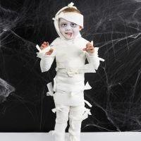 Halloweenkostym som mumie