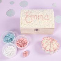 Smyckeskrin dekorerad med Pearl Clay