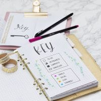 Key sida till Bullet journal