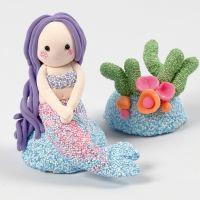 Sjöjungfru och korallrev av Foam Clay och Silk Clay