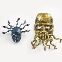 Medusa och tentakelmonster av papp, Silk Clay och piprensare.