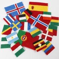 Världens flaggor av rörpärlor