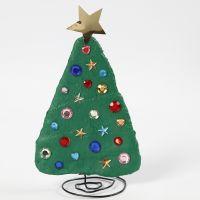 Julgran av bonzaitråd och gipsgaze dekorerad med rhinestones