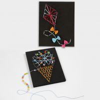 3D bilder med String Art