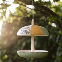 Fågelbord av bambufibrer dekorerad med Plus Color hobbyfärg