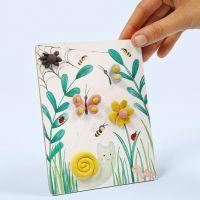 Bild med naturmotiv dekorerad med Silk Clay