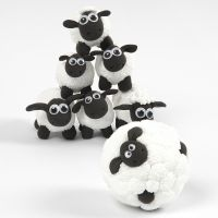 Får från fåret Shaun - minibowling av Foam Clay och Silk Clay