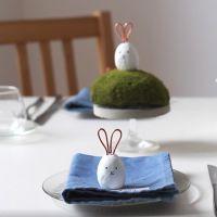 Bordskort/placeringskort med kanin av fimolera.