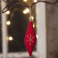 Virkat ornament i bomullsgarn
