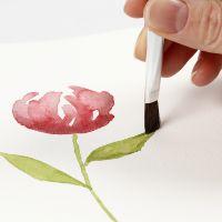 Så här målar du akvarell med glidande penseldrag