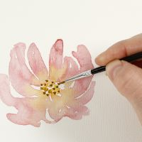 Sådan maler du akvarel med vådt på tørt-teknik