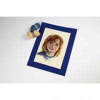 Porträtt med filtnålen